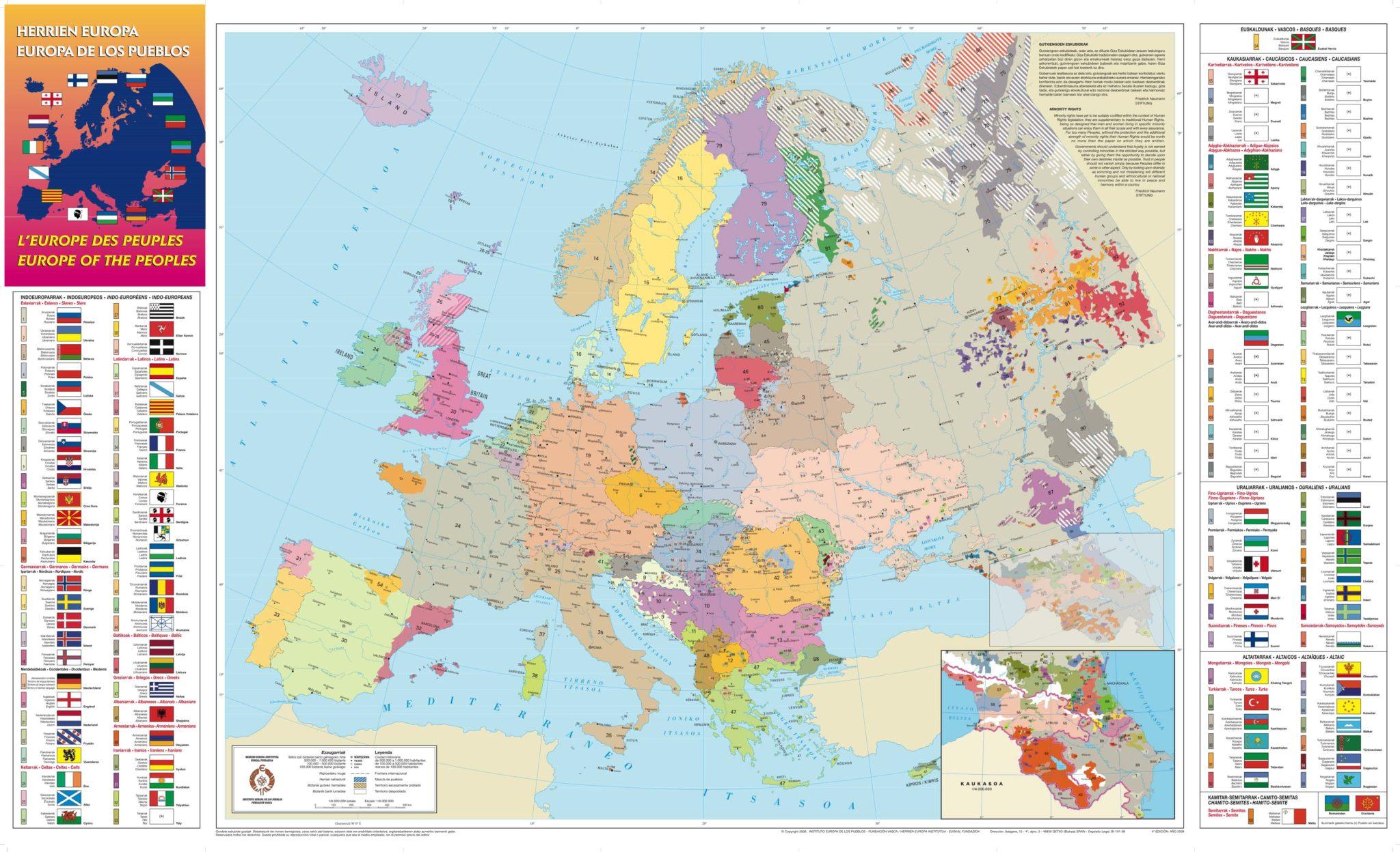 mapa europa de los pueblos y lenguas